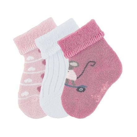 Ponožky Sterntaler Baby 3-pack růžová