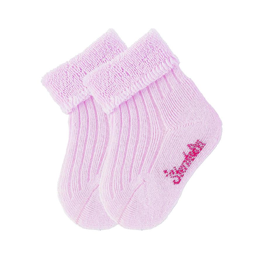 Sterntaler Calze bebè uni doppio pacco rosa