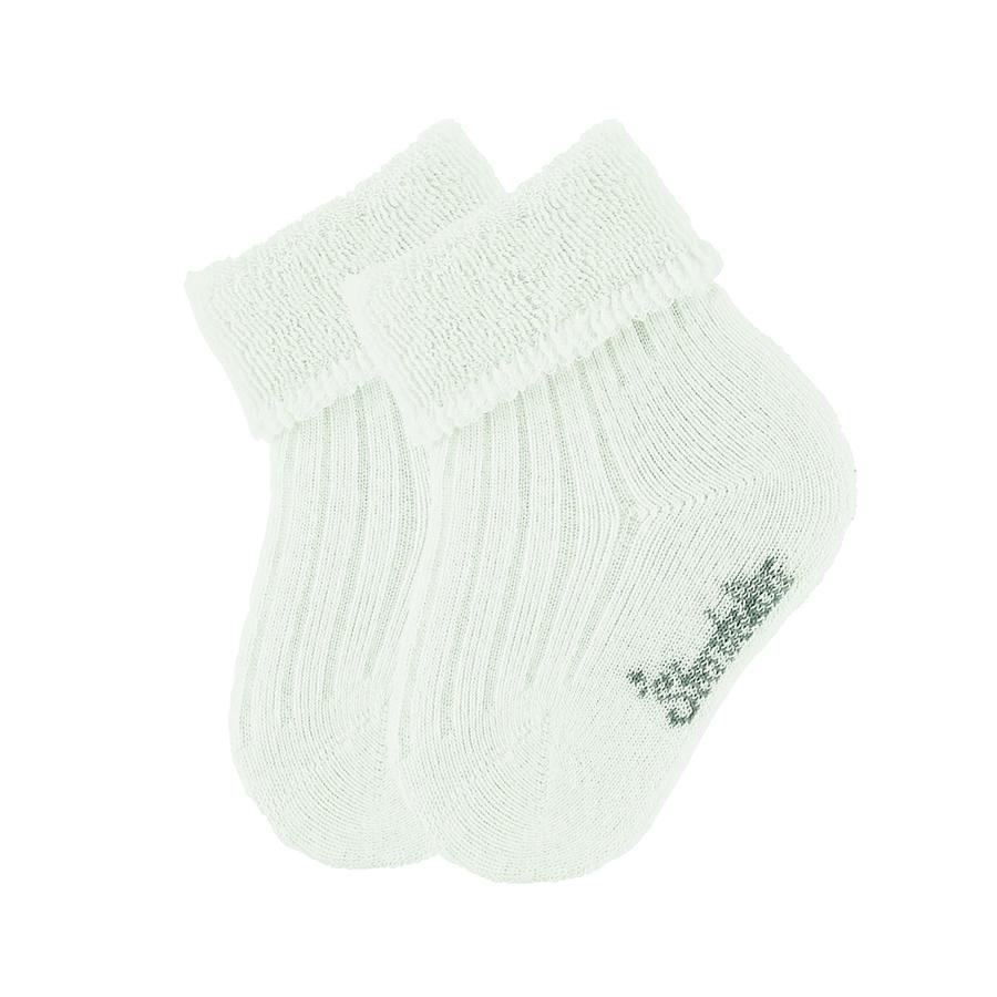 Sterntaler Baby sokker uni dobbeltpakke ecru