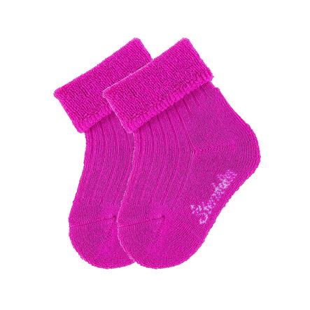 Sterntaler Chaussettes pour bébés uni double pack magenta