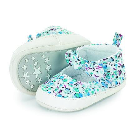 Sterntaler Chaussure de bébé en velours bleu