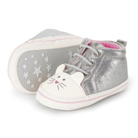 Sterntaler Baby bota stříbrná