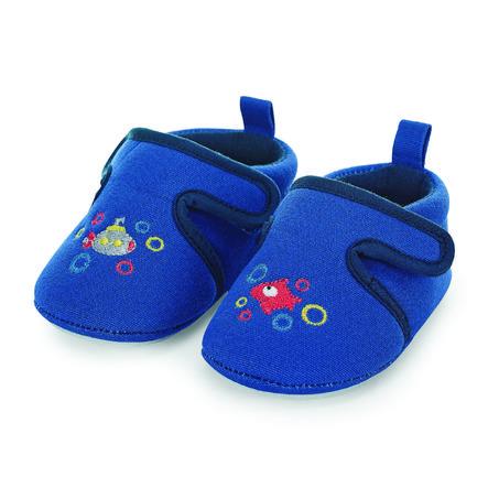 Sterntaler Chaussons bébé scratch bleu