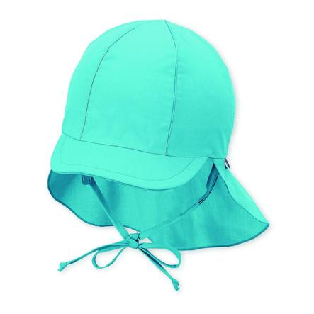 Sterntaler czapka z daszkiem z ochroną szyi w kolorze turkusowym