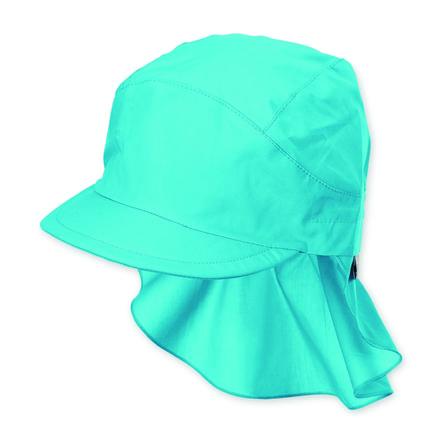 Sterntaler Schirmmütze mit Nackenschutz türkis