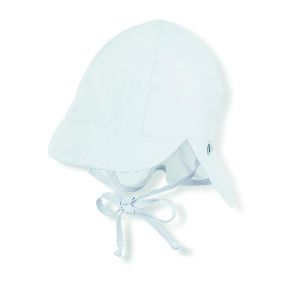 Sterntaler piekstop met nekbeschermer wit
