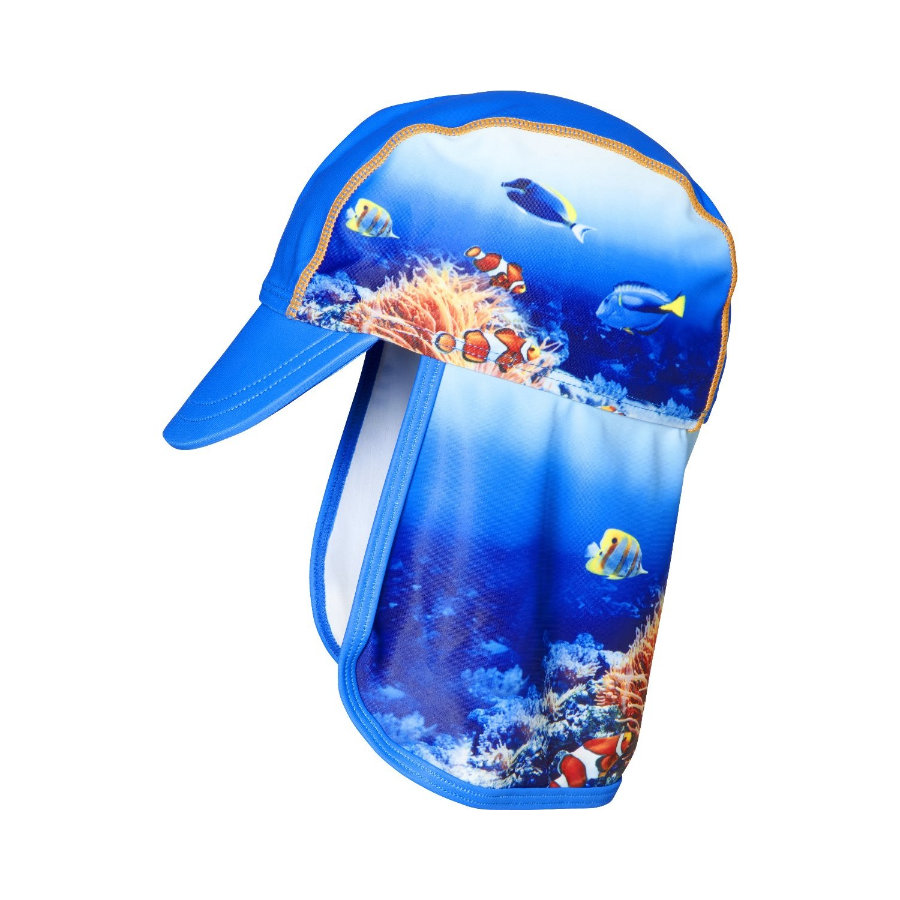 Spiller UV-beskyttelseshette under vann