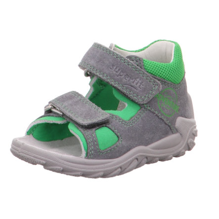 superfit Drenge Sandal Flow lysegrå / grøn (medium)