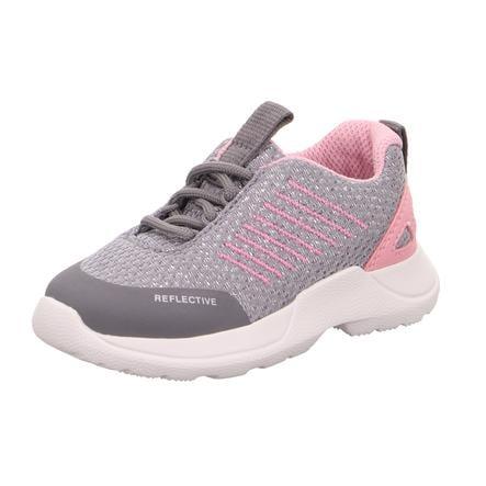 superfit  lage schoen Rush lichtgrijs/roze