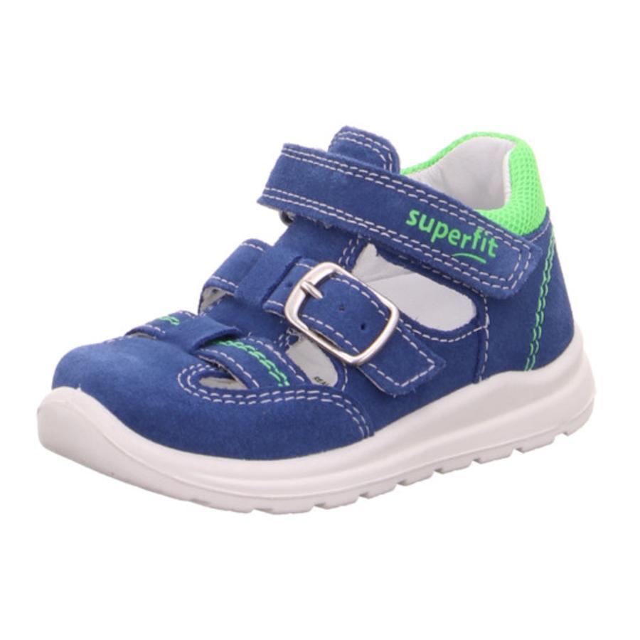 superfit Sandales enfant scratch Mel bleu/vert clair, largeur moyenne