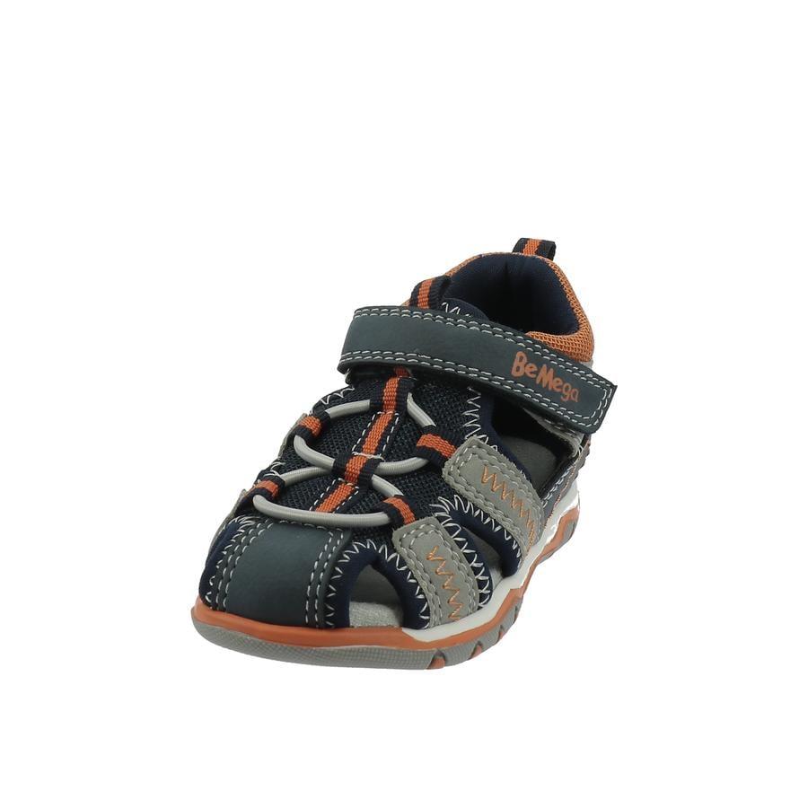 Be Mega Sandales enfant scratch navy-grey/neon-orange