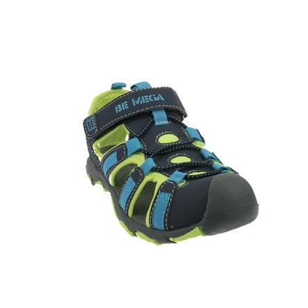Be Mega Sandale navy-lime-blue