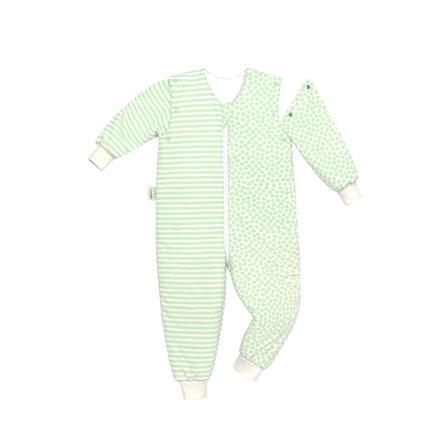odenwälder Jersey-Schlafoverall Hopsi stripes neon mint 86 cm - 116 cm