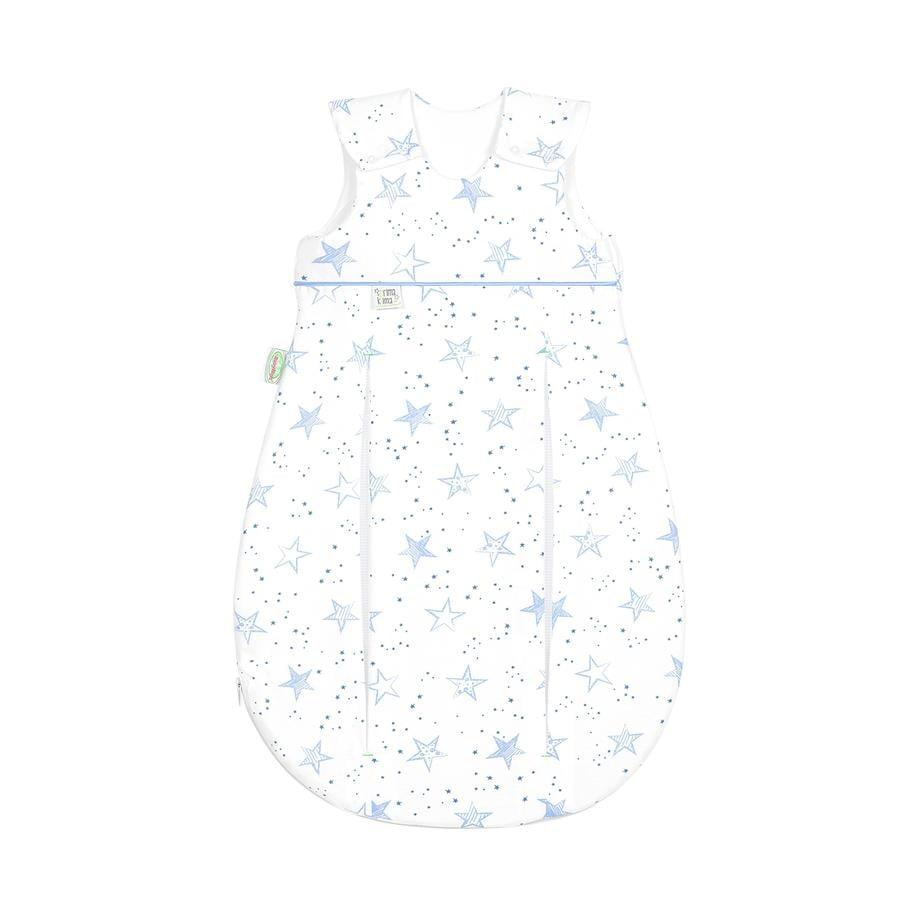 odenwälder Schlafsack Jersey Prima Klima scribble stars bleu 60 cm - 110 cm