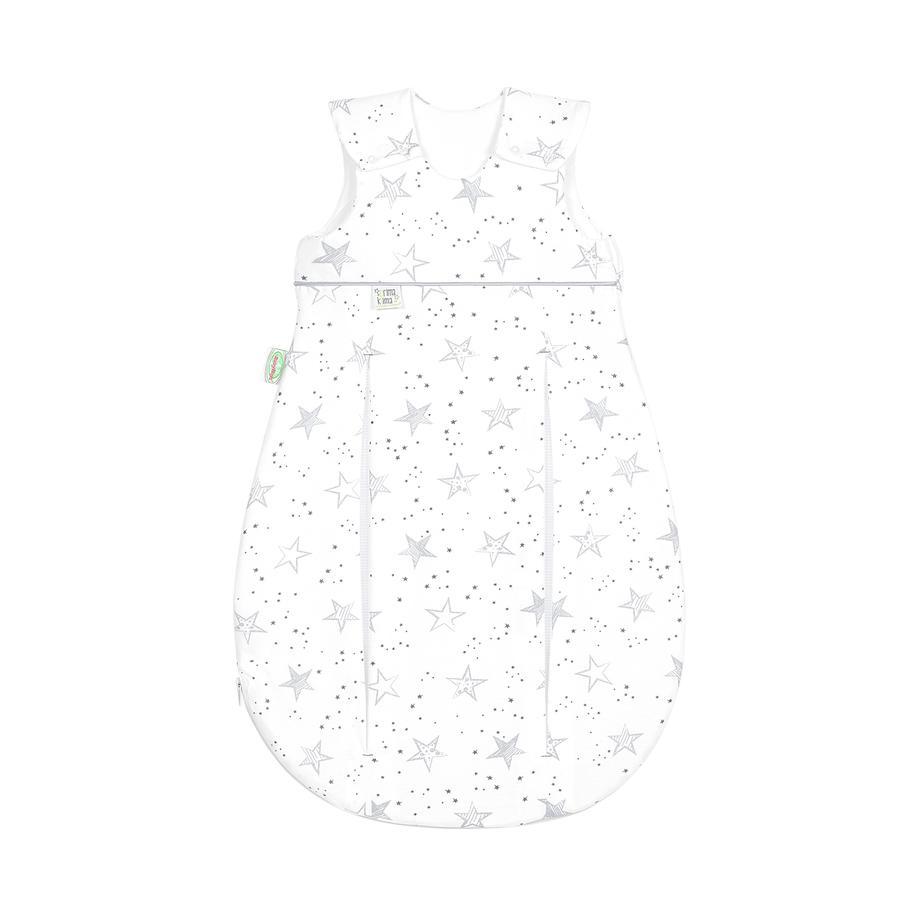 odenwälder Schlafsack Jersey Prima Klima scribble stars grey 60 cm - 110 cm