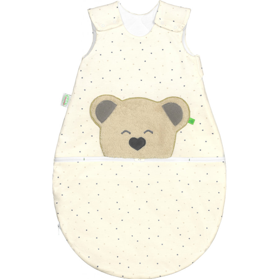 odenwälder Saco de dormir de jersey Mucki®air stars gris/ heart 60 -110 cm