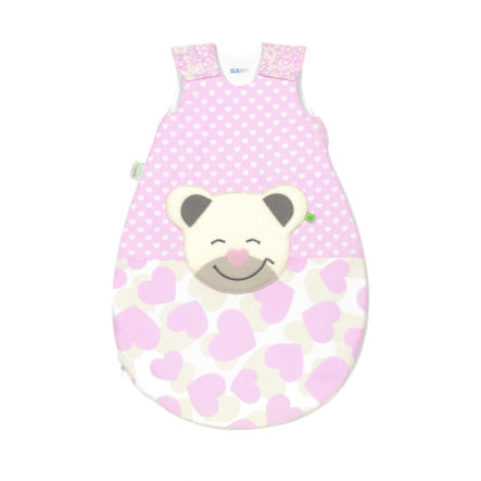 odenwälder Śpiworek Mucki®air sun smart hearts light pink 70 cm - 110 cm