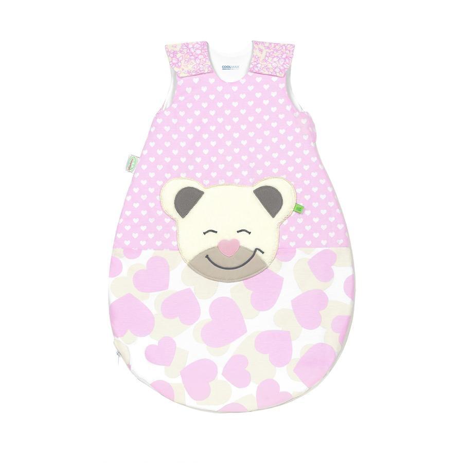 odenwälder Jerseyschlafsack Mucki®air sun smart hearts light pink 70 cm - 110 cm