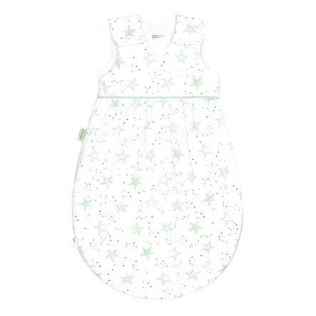 odenwälder Saco de dormir de jersey Timmi fresco garabato de stars neón menta 70 cm - 110 cm