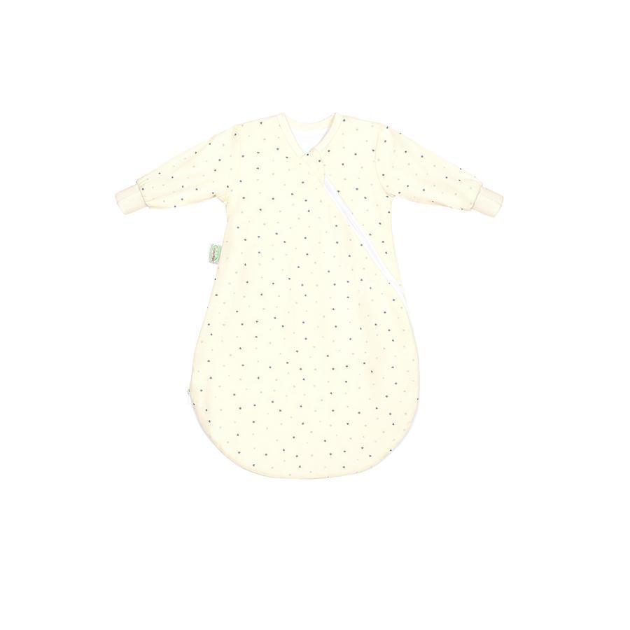 odenwälder Śpiworek wewnętrzny Jersey heart/stars grey 50 - 70 cm