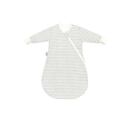 odenwälder Śpiworek wewnętrzny Jersey stripes grey 50 - 70 cm