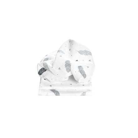 odenwälder Gauze plenky peří 3-balení šedá 80 x 80 cm