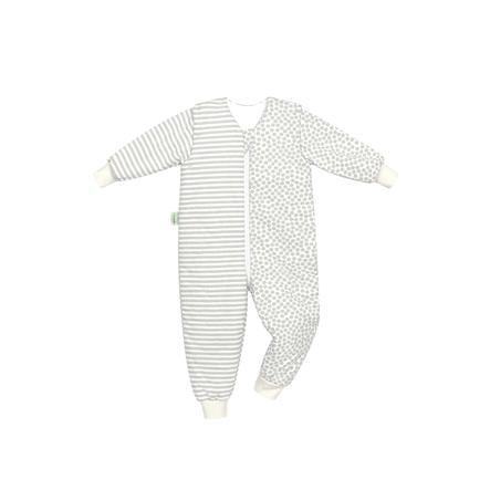 odenwälder Jersey-Schlafoverall Hopsi stripes grey 86 cm - 116 cm