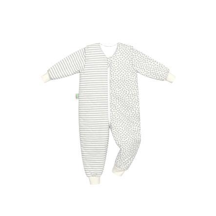 odenwälder Jersey sleepoverall Hopsi striber grå 86 cm - 116 cm