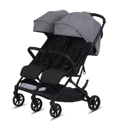 knorr-baby  Cochecito gemelar y hermanos Twin- Easy Fold Gris