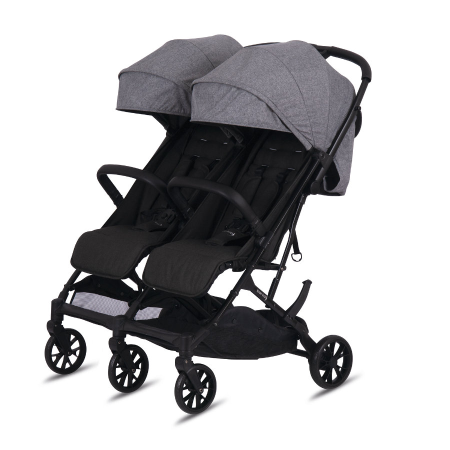 knorr-baby  Passeggino gemellare Twin - Easy Fold Grey