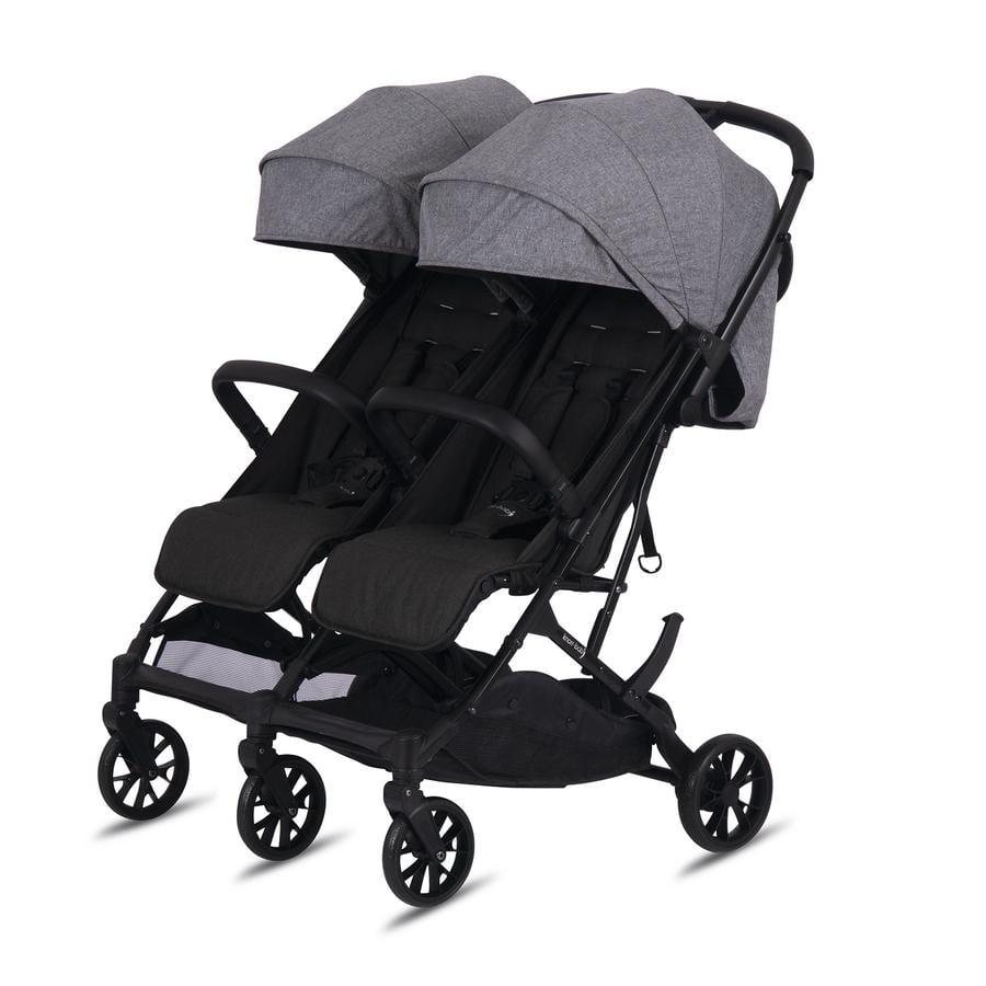 knorr-baby Wózek dla rodzeństwa Twin - Easy Fold Grey