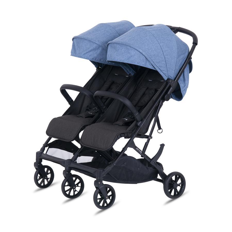 knorr-baby Geschwisterwagen Twin - Easy Fold Blau