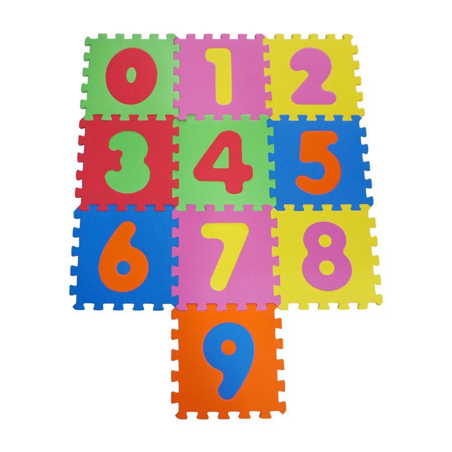 knorr® toys Alfombrilla de rompecabezas números 0-9, 10 pzas.
