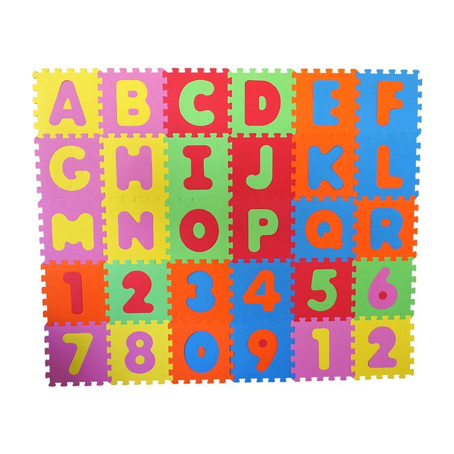 knorr® toys Mata Puzzle Alfabet i Liczby, 36 części.