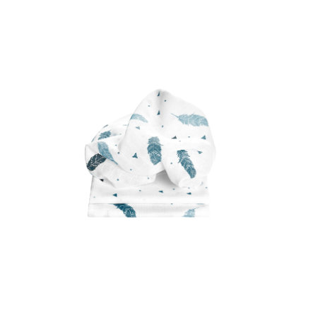 odenwälder Mullwindeln feather 3er-Pack bleu 80 x 80 cm
