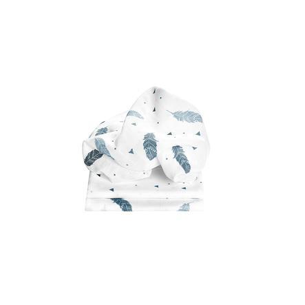 odenwälder Pañales de gasa pluma 3-pack bleu 80 x 80 cm