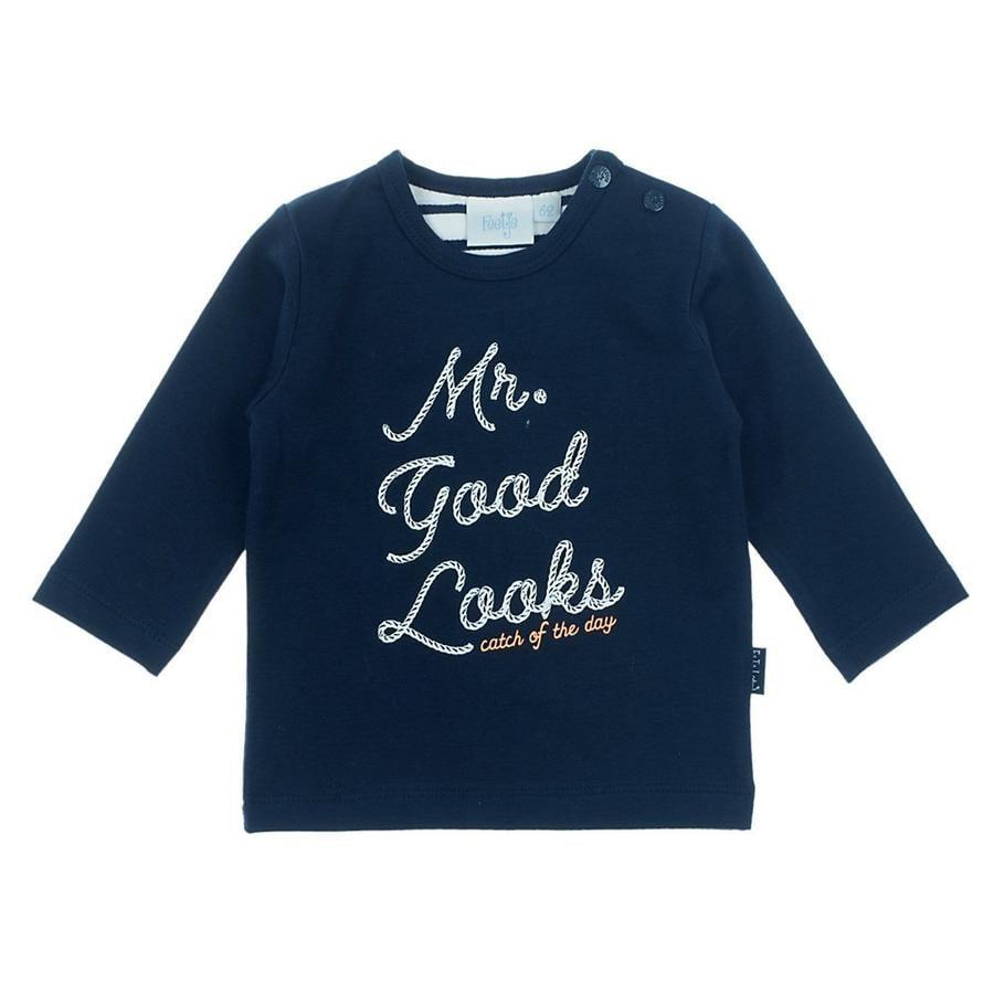 Feetje T-shirt manches longues enfant Mr. Good Looks bleu marine