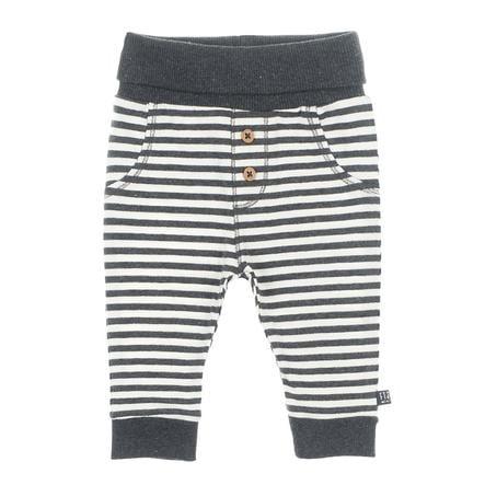 Feetje Pantaloni con bottoni a righe Mini Person antracite/bianco