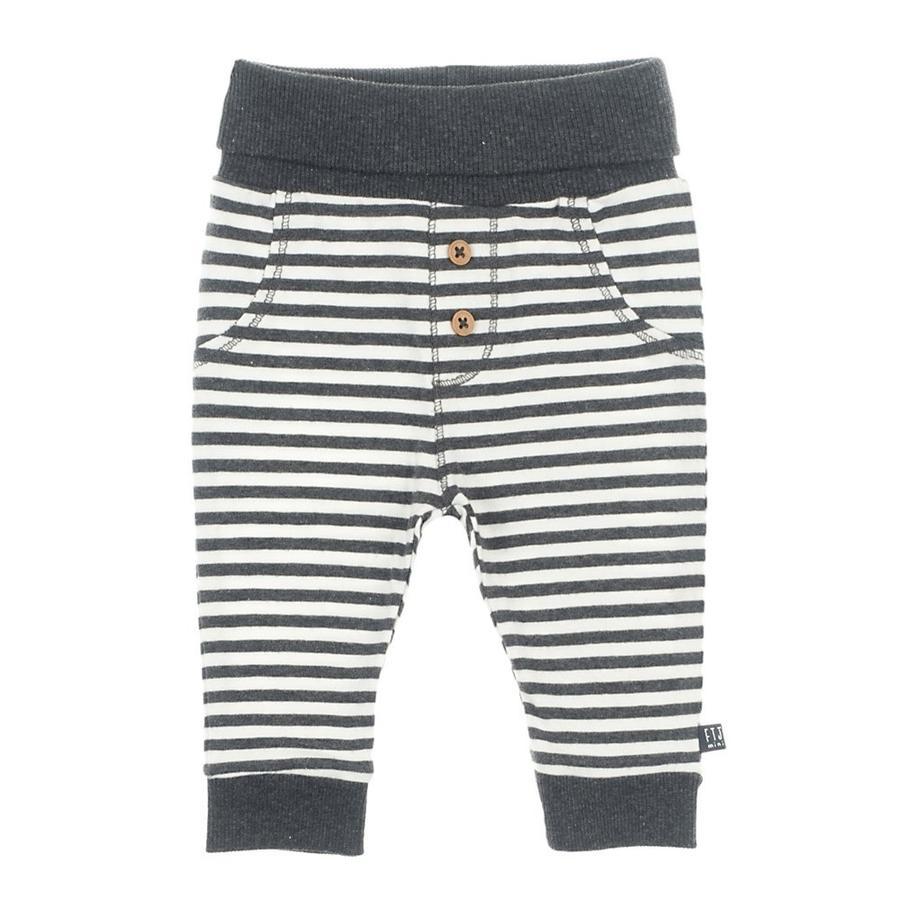 Feetje kalhoty pruhované mini person anthracite-melange