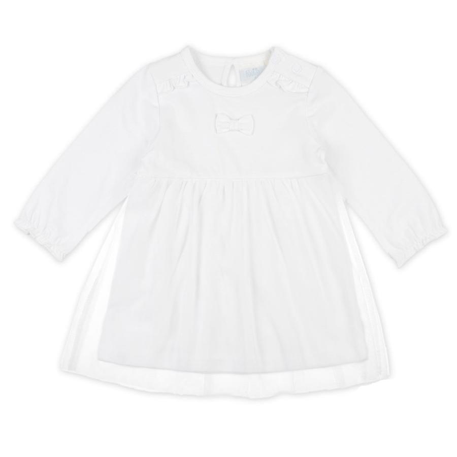 Feetje Girls Robe uni/ tulle blanc