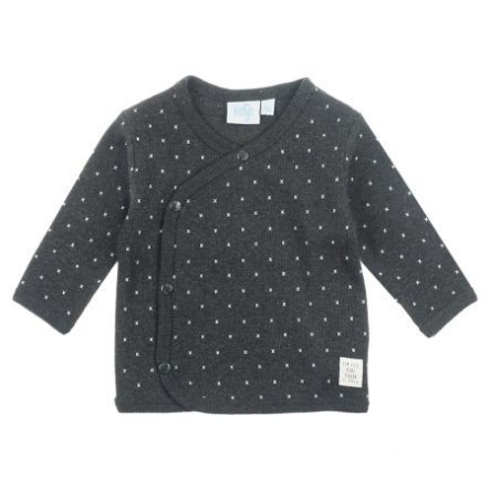 Feetje Wrap-skjorte Mini Person anthracite-melange