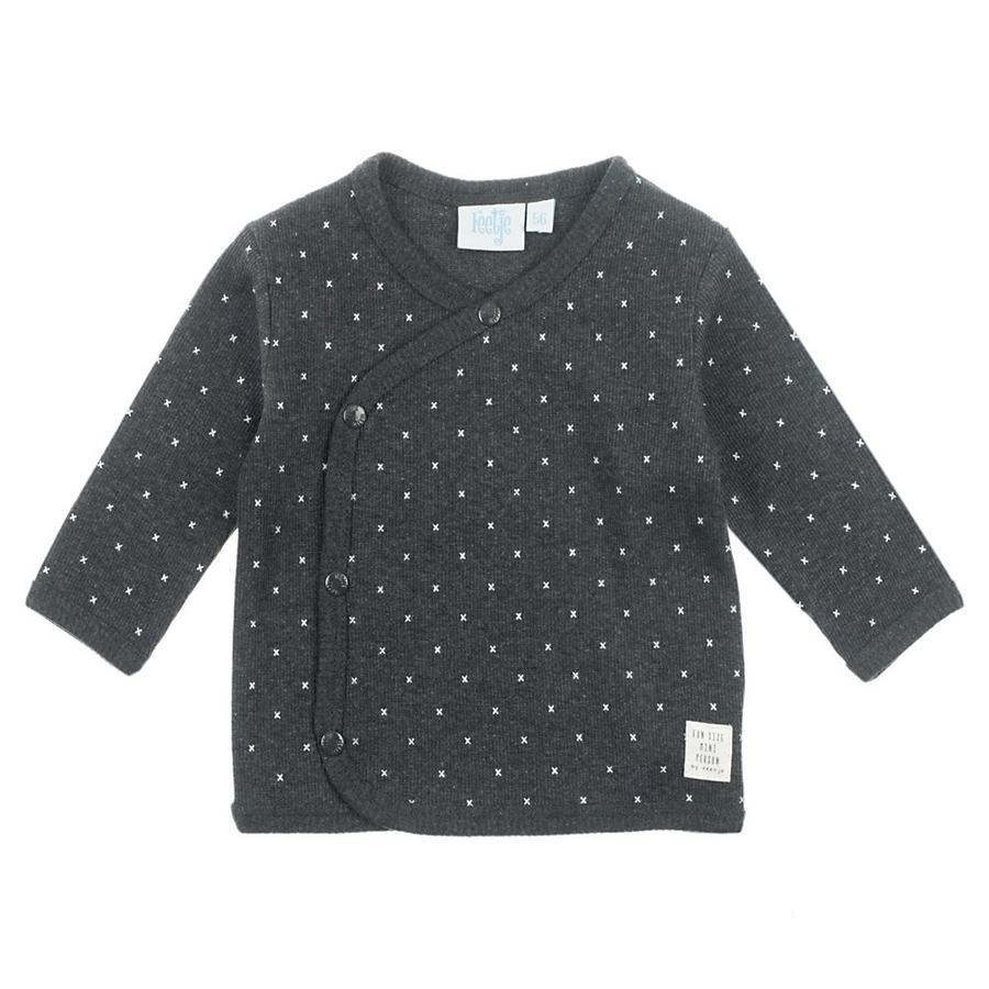 Feetje Avvolgere la camicia Mini Person antracite-melange