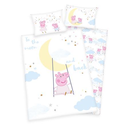 HERDING Parure de lit enfant Peppa Pig GOTS 100x135 cm