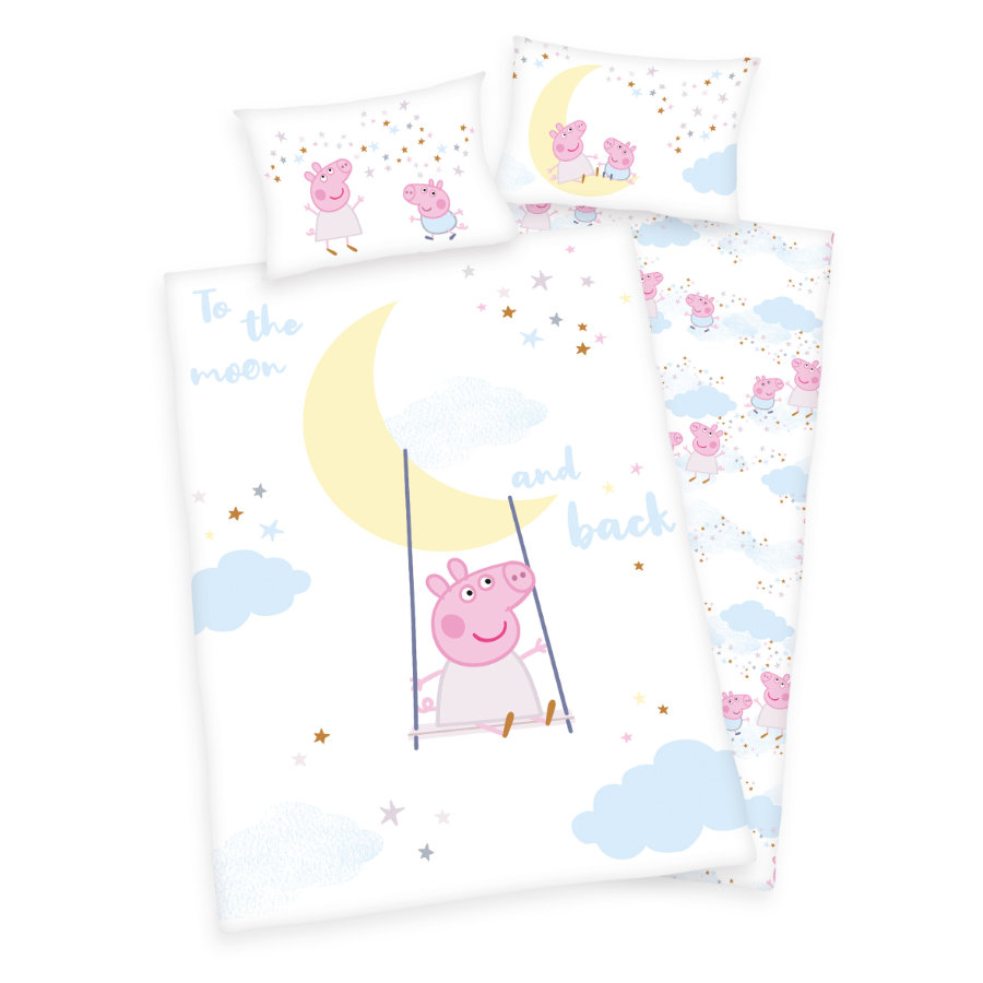HERDING Sängkläder Peppa Pig GOTS 100x135 cm