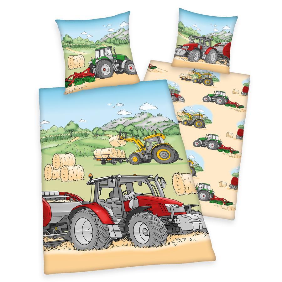 HERDING Bettwäsche Traktor 135x200cm