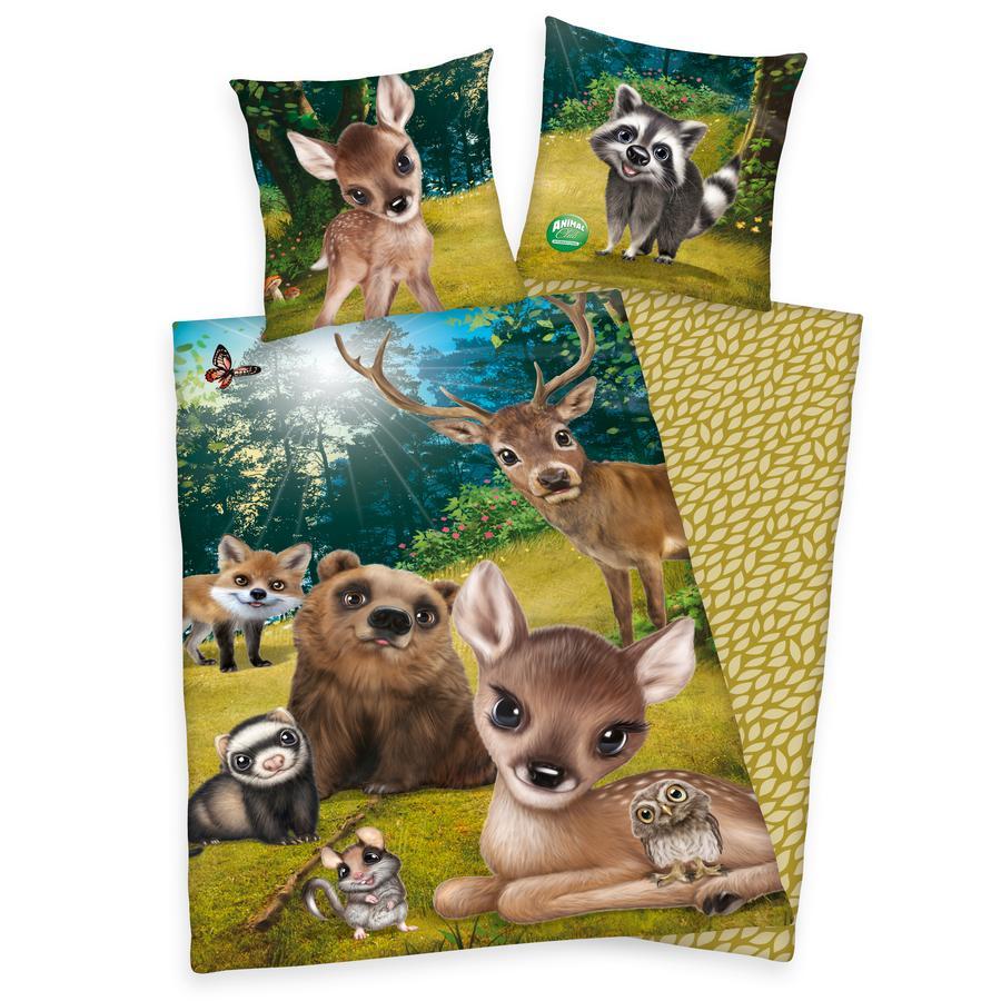 BYDLENÍ Ložní prádlo Animal Club lesní zvířata 135x200cm