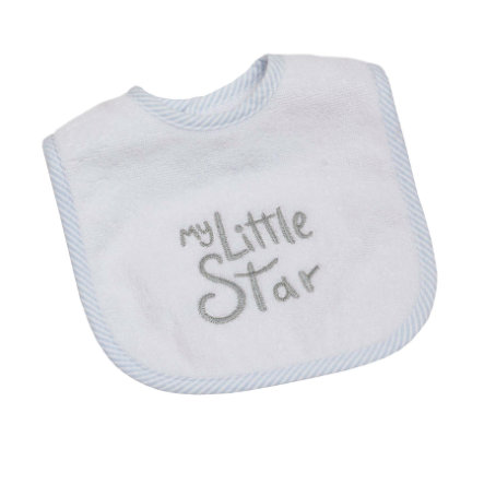 Be Be's Collection Velcro bib My Little Star blue