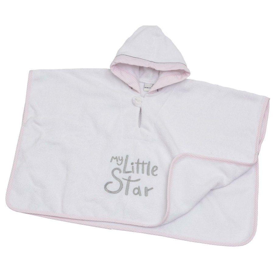 BeBes Collection Poncho de bain enfant capuche My little Star rose