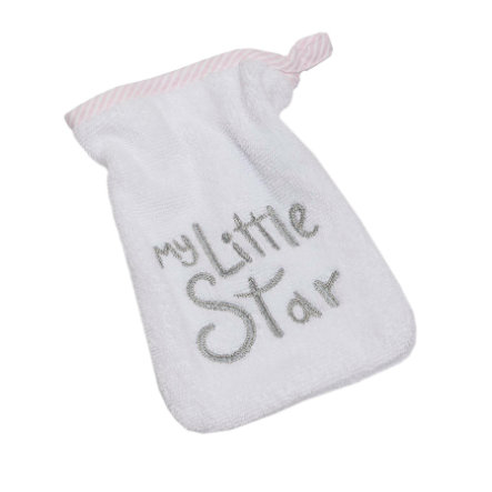 Be Be 's Collection tvätthandske My little Star pink