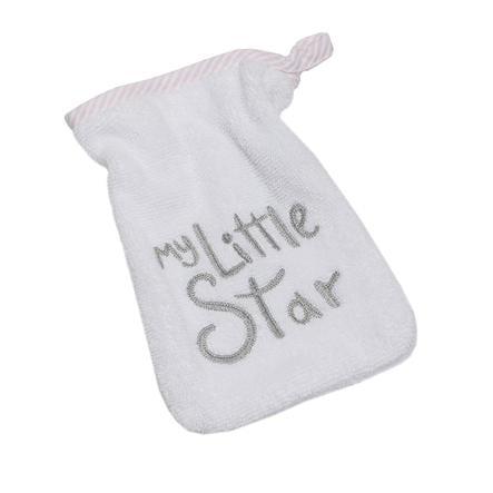BeBes Collection Gant de toilette enfant My little Star rose